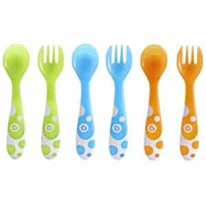 Munchkin Fork and Spoon Set   Munchkin 6 Piece Fork and Spoon Set