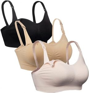 iloveSIA 3PACK Womens Full Bust Seamless Maternity Bra