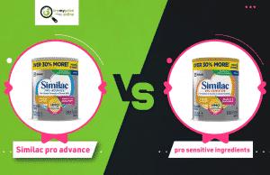 Similac Pro Advance vs Pro Sensitive ingredients